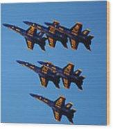 Blue Angels Delta Wood Print