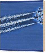 Blue Angels Liftoff Wood Print