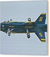 Blue Angels Solo Mirror Wood Print