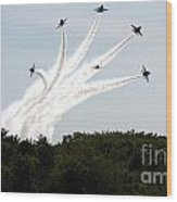 Blue Angels Star Burst Wood Print