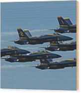 Blue Angels Take 6 Wood Print
