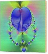 Blue Apples  Wood Print