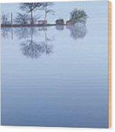 Blue Background  Wood Print
