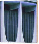 Blue Bank Wood Print