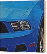 Blue Beauty 001 Wood Print