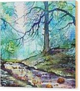 Blue Beck Wood Print
