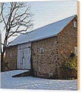 Blue Bell Barn Wood Print