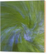 Blue Bells Vortex 1 Wood Print