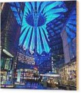 Blue Berlin Wood Print