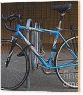 Blue Bicycle . 7d10157 Wood Print
