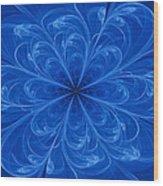 Blue Bloom Wood Print