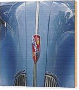 Blue Buick Wood Print