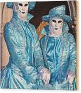 Blue Cane Duo Wood Print