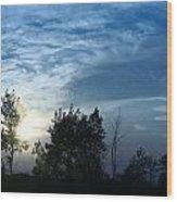 Blue Canvas Sky 03 Wood Print by Aimelle