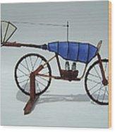 Blue Caravan Wood Print by Jim Casey