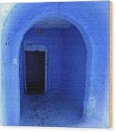 Blue Cave Wood Print