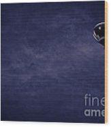 Blue Coming Down Wood Print
