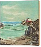 Blue Cove Serenity Wood Print