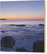 Blue Dawn Acadia National Park Wood Print