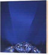 Blue Diamond In Blue Light Wood Print by Atiketta Sangasaeng