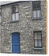 Blue Dublin Door Wood Print