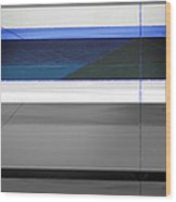 Blue Flag Wood Print