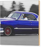 Blue Ford Customline Wood Print by Phil 'motography' Clark