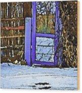 Blue Gate #24 Wood Print