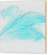 Blue Ghost Wood Print