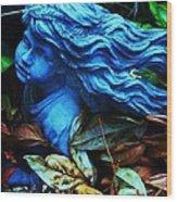 Blue Girl Wood Print by Todd Sherlock