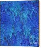 Blue Glass - Abstract Art Wood Print by Carol Groenen