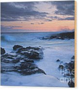 Blue Hawaii Sunset Wood Print