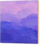 Blue Hills Wood Print