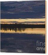 Blue Hour Wood Print by Heiko Koehrer-Wagner