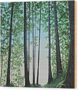 Blue In Green Wood Print