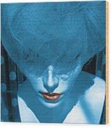 Blue Kiss Wood Print