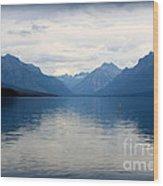 Blue Lake Mcdonald Wood Print