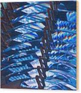Blue Lights Wood Print
