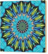 Blue Mandela 102311 Wood Print