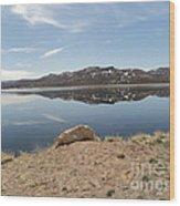 Blue Mesa Reflection Wood Print