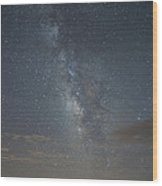 Blue Milky Way Wood Print