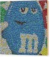 Blue Mm Mosaic Wood Print