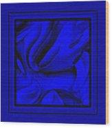 Blue Morass Wood Print
