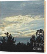 Blue Morning Wood Print