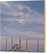 Blue Mosque Wood Print