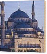 Blue Mosque Exterior Wood Print