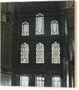 Blue Mosque Prayers Wood Print by Leslie Leda