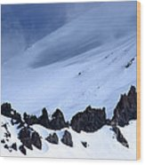 Blue Mountain Winds Wood Print