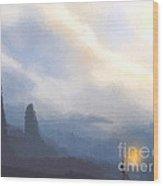 Blue Mountains  Wood Print by Pixel  Chimp