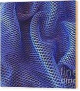 Blue Net Background Wood Print by Carlos Caetano